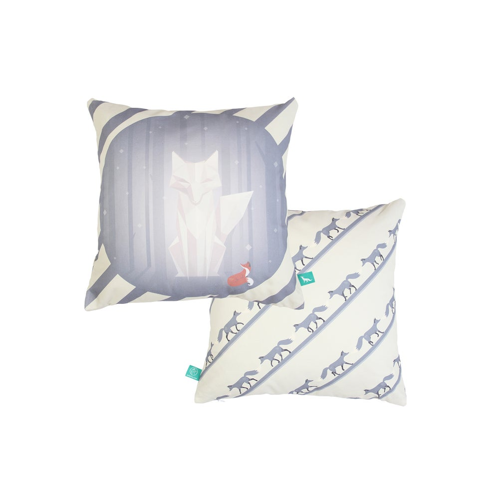 "Image of ""1001 Nights Of Snow"" Cushion Cover"