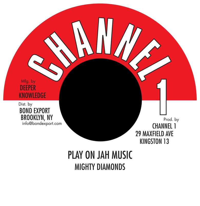 "Image of Mighty Diamonds - Play On Jah Music 7"" (Channel 1)"
