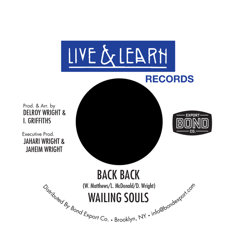 "Image of Wailing Souls - Back Back 7"" (Live & Learn)"