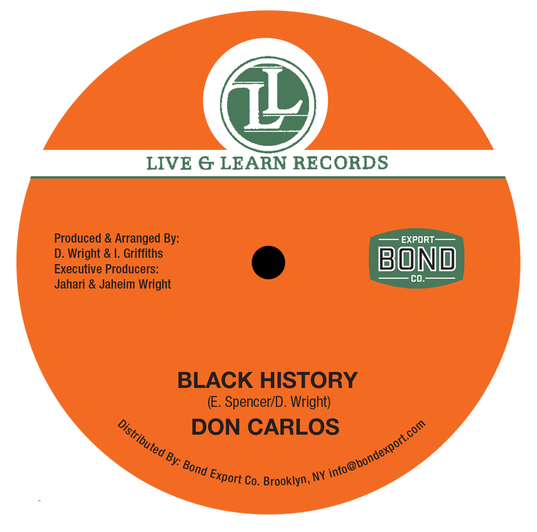"Image of Don Carlos / Junior Reid - Black History / Woman Change Your Ways 12"" (Live & Learn)"