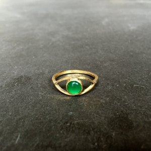Image of Eye am ring Green onyx