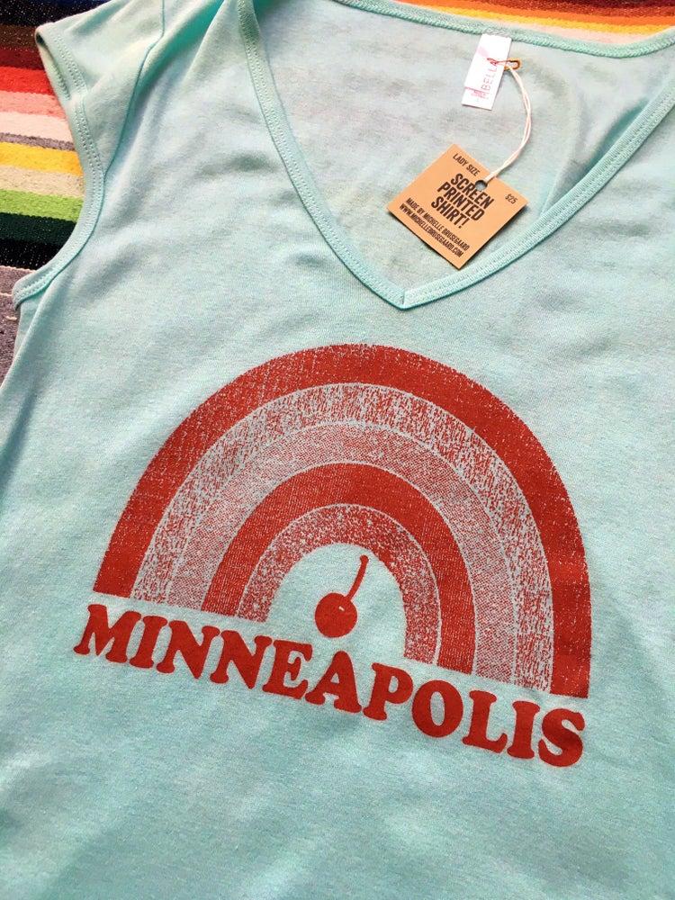 Image of Minneapolis Cherry Rainbow Lady Tee