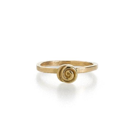 Image of briar rose ring . 14k yellow gold