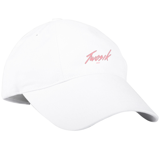 Image of White/Pink Dad hat