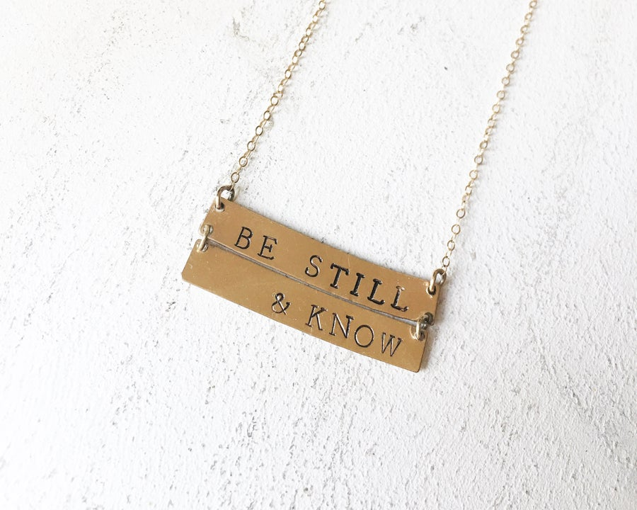 Image of double lovin' big bar necklace [ all metals ]