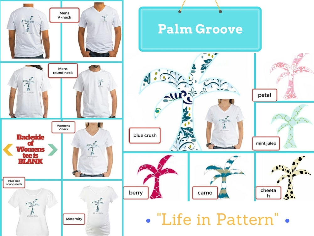 Image of Palm Groove Tees - short sleeves - Blue Crush