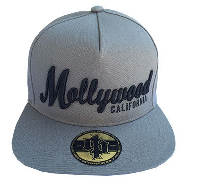 Image of Dirty Paper Mollywood Snapback Baseball Cap Gray