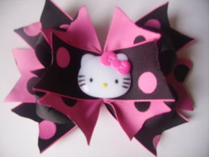 Image of Hello Kitty Black and Pink Hair Bow