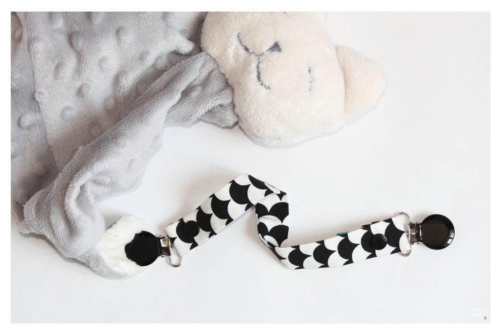 Image of Attache tétine ou doudou Black&White Scales