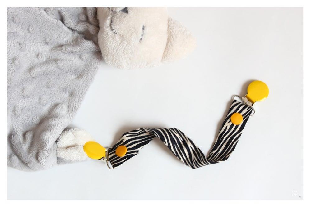 Image of Attache tétine ou doudou Sunny Zebra - DERNIERES PIECES!