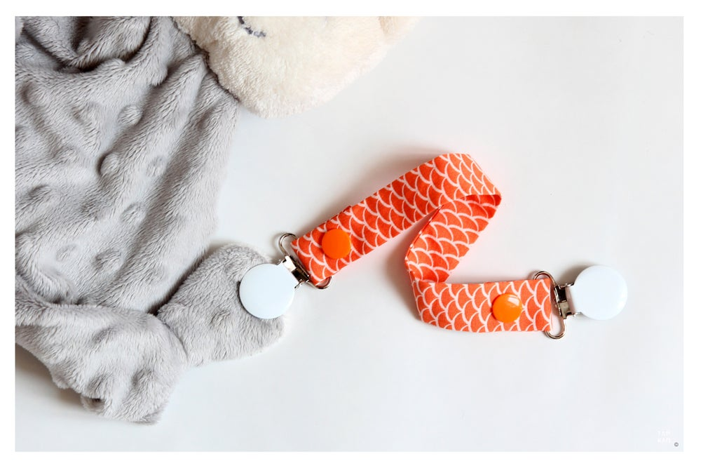 Image of Attache tétine ou doudou Pumpkin Scales - DERNIERE PIECE!