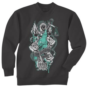 Image of OFF BALANCE CREWNECK SWEATSHIRT - CHARCOAL