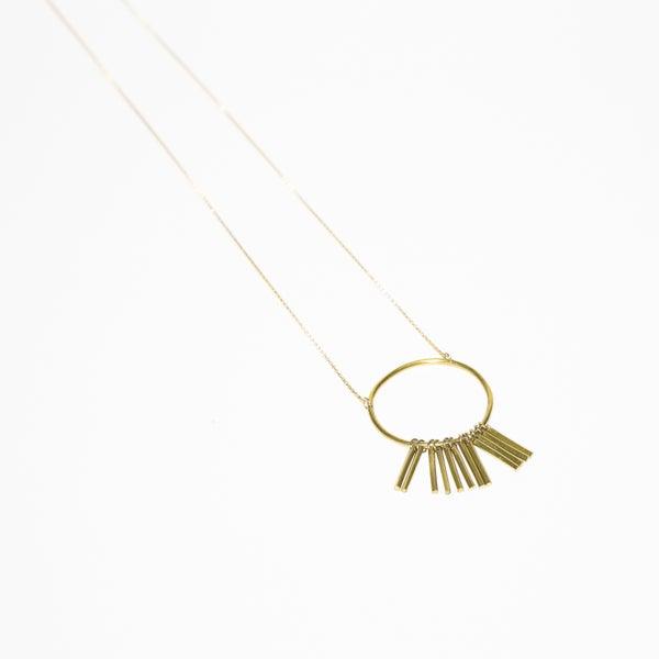 Image of Sphere Fringe Necklace