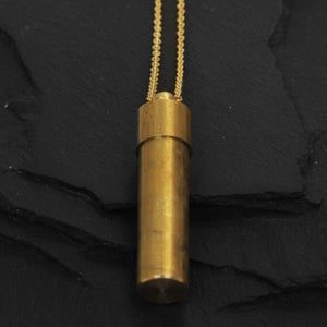 Image of Canister necklace in brass