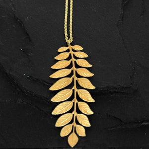 Image of Fern necklace in brass