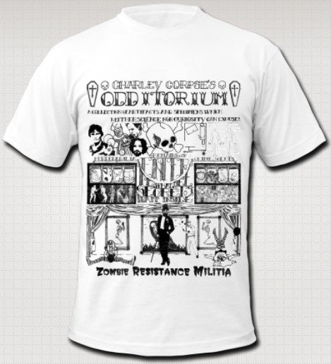 Image of CHARLEY CORPSE'S ODDITORIUM T-Shirt by American Apparel