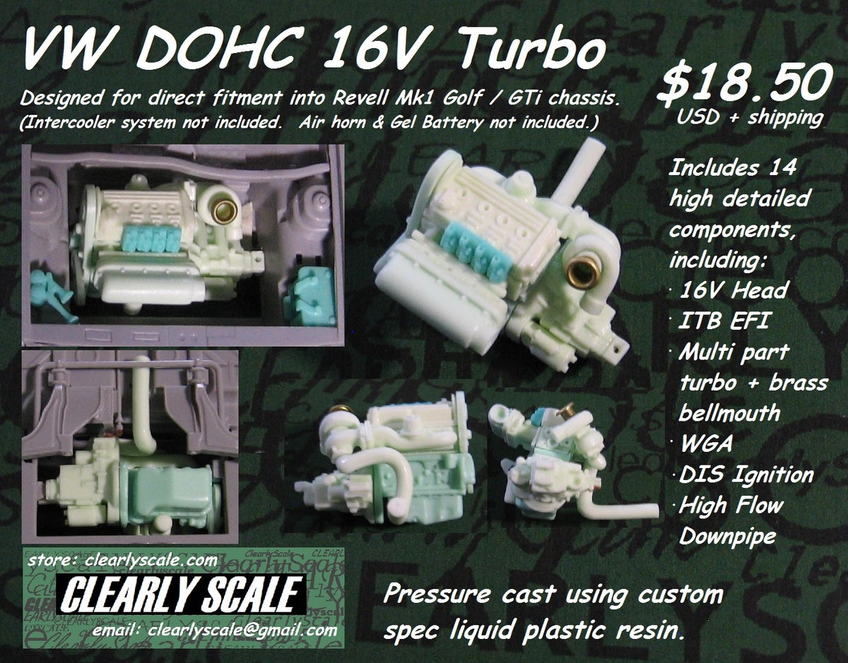 Clearly Scale Vw Dohc 16v Turbo Engine Transaxle Set