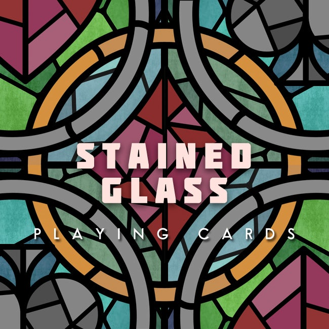 Image of Stained Glass Playing Cards