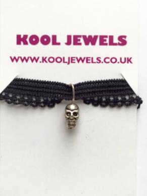 Image of Kool Jewels Mini Skull Charm Choker