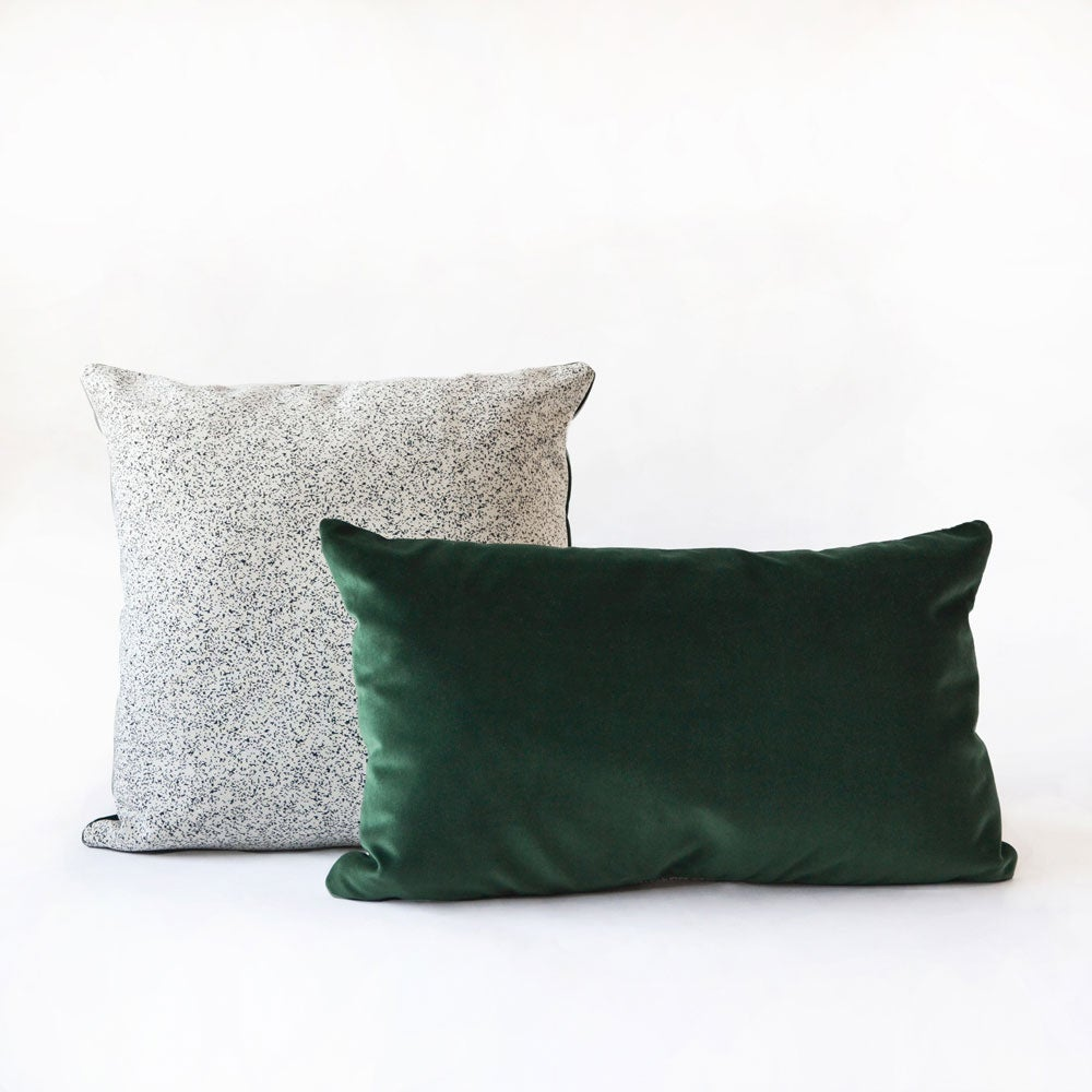 Image of Galaxy Velvet Green Cushion Cover - Square