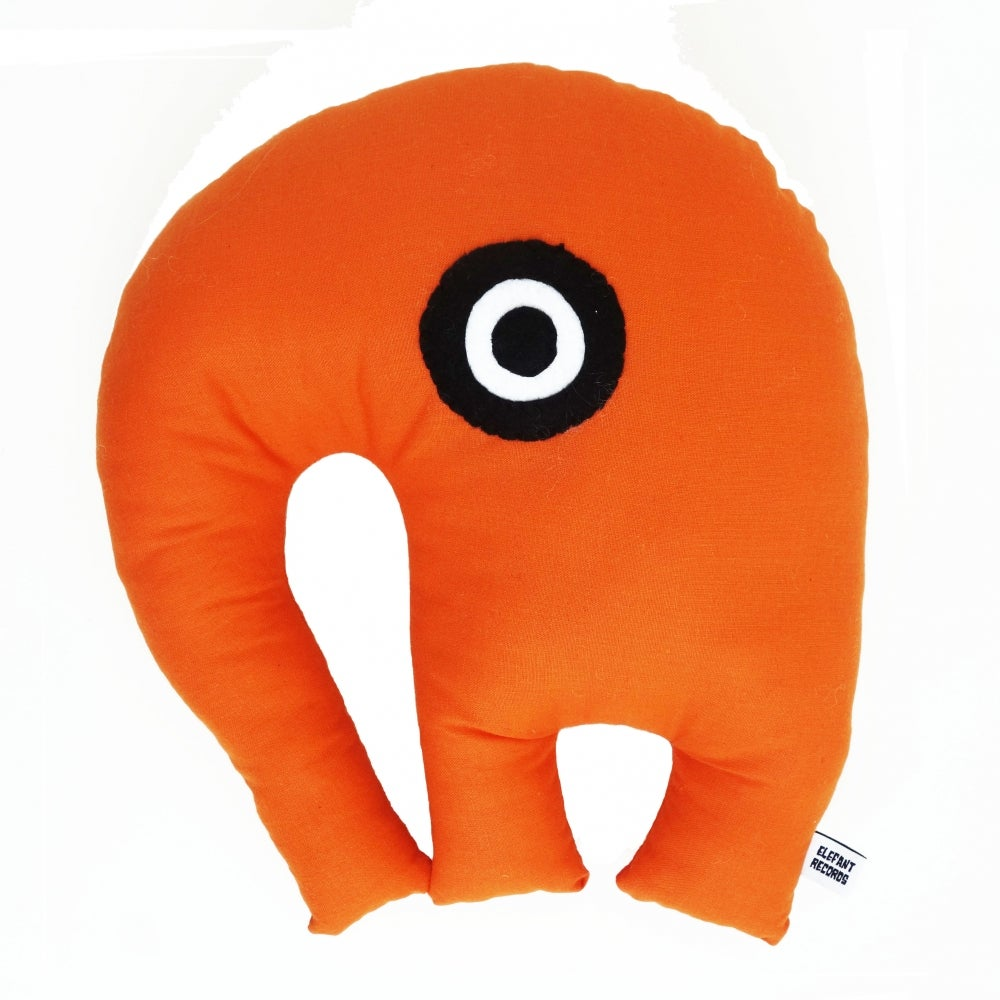 Image of ELEFANT DOLL CUSHION + RATTLES