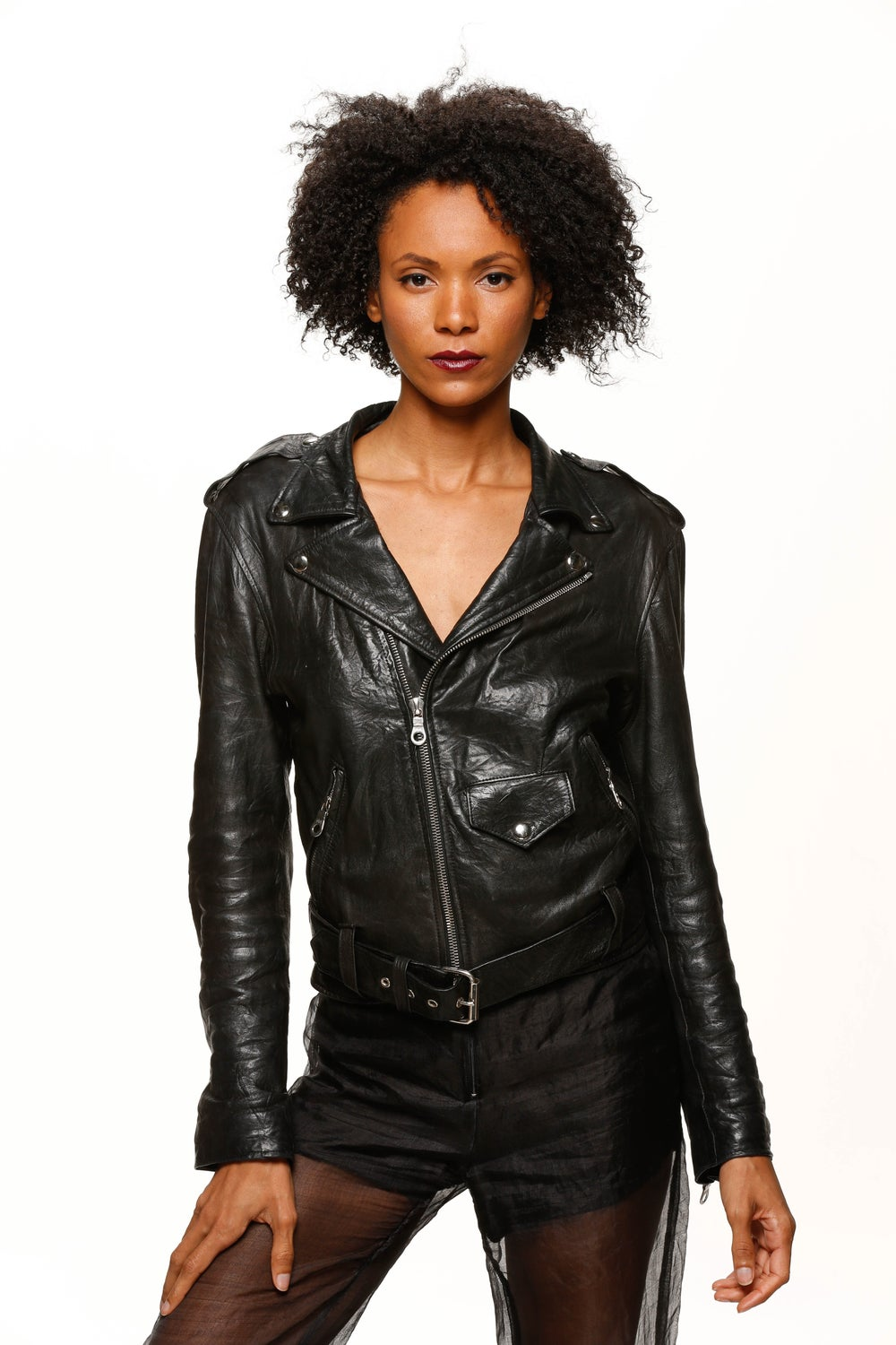 Image of Sustainable Leather Jacket