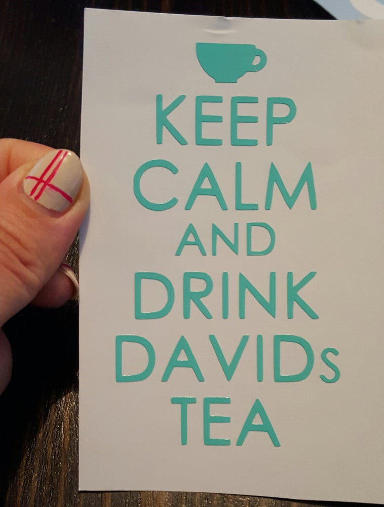 Image of Keep Calm Tea Decal