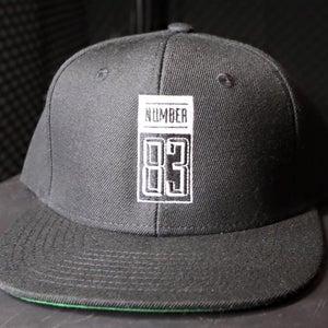 Image of Number 83 - Black Snapback