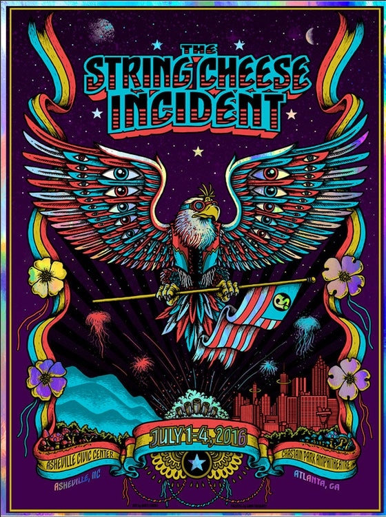 "Image of STRING CHEESE INCIDENT @ Ash & Atl - 2016 Originals & ""Foil variant"""