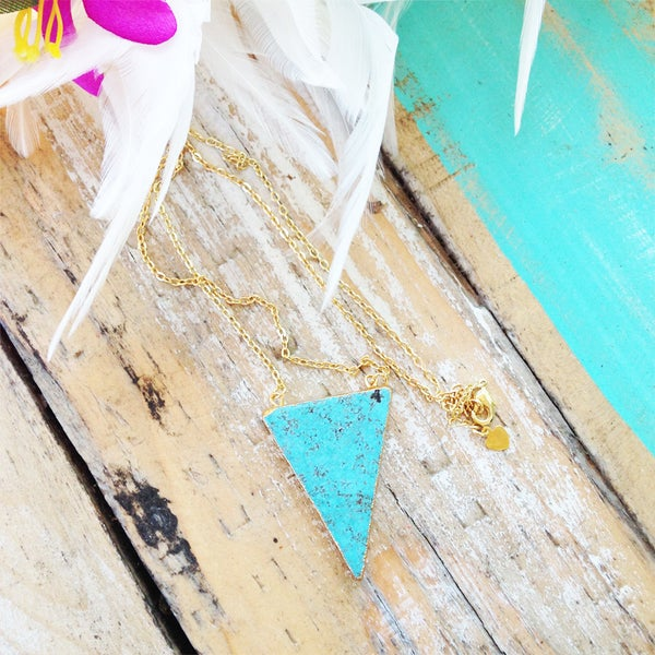 Image of Turquoise Triangle Necklace |Shantique Designs|