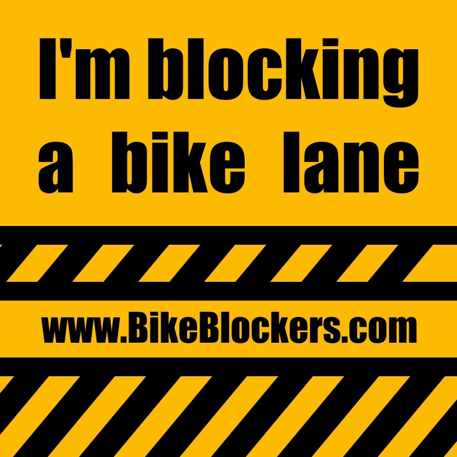 Image of Bike Blockers Sticker - 12 stickers for $5 + Free S&H