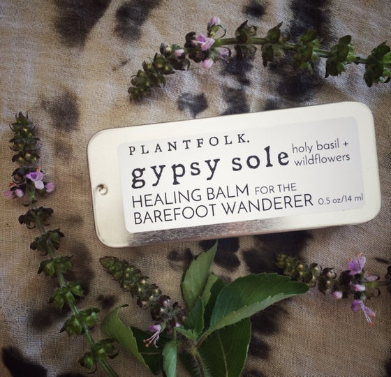 Image of Gypsy Sole {holy basil + wildflowers} balm for the barefoot wanderer