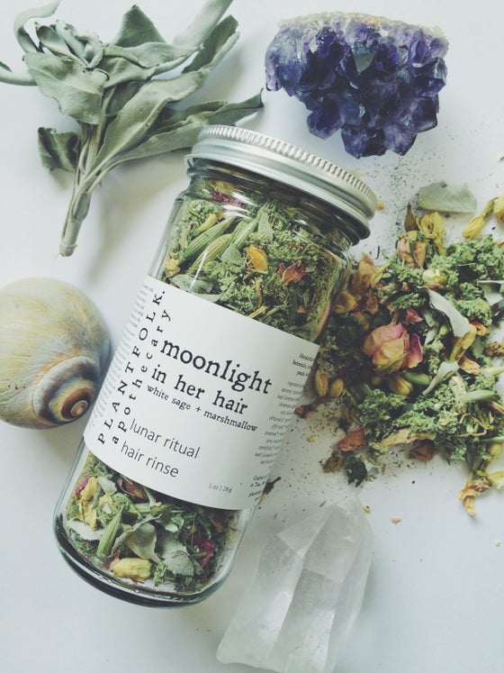 Image of Moonlight in her Hair {white sage + marshmallow} lunar ritual hair rinse