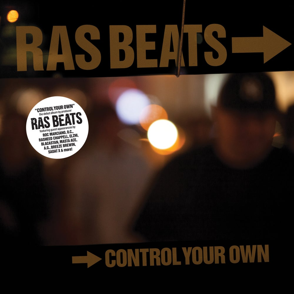 Image of RAS BEATS - CONTROL YOUR OWN limited orange vinyl. Includes Free Download card.
