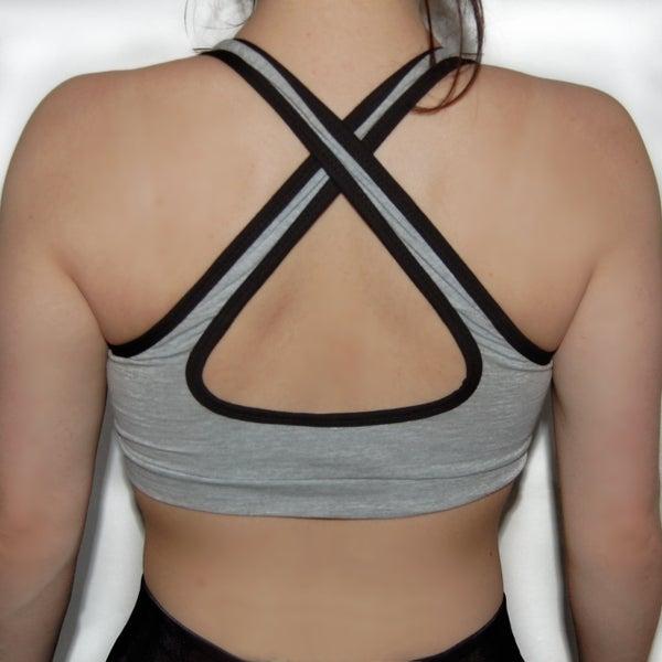 Aphrodite - Sportsbra Grey - Elite Fitness Apparel