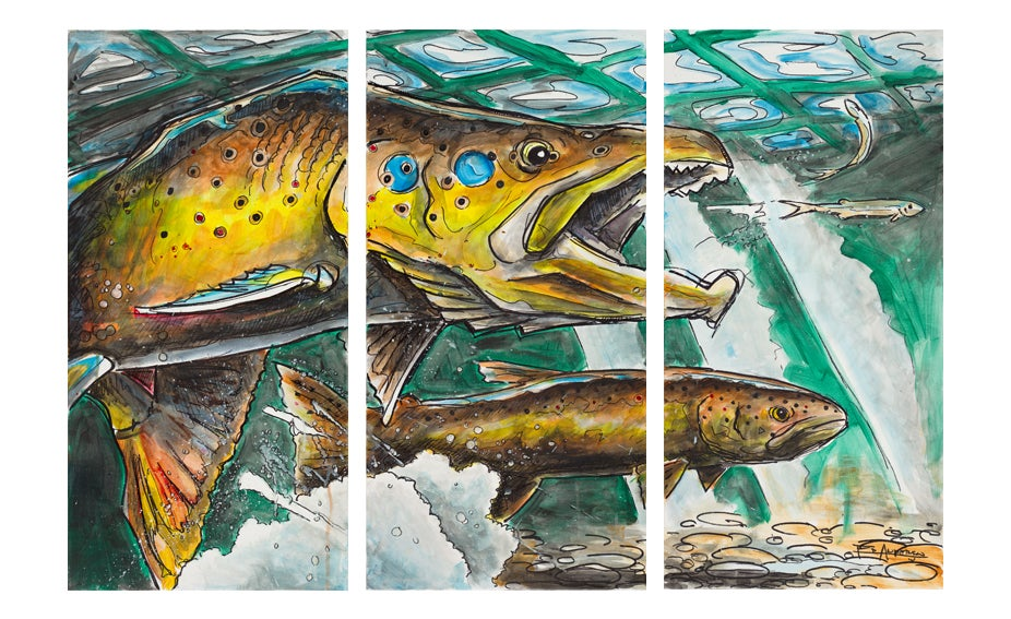 Image of The Chase Triptych