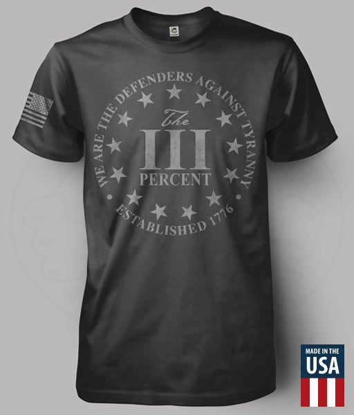 "Image of THE THREE PERCENT ""DEFENDERS"" T-SHIRT"