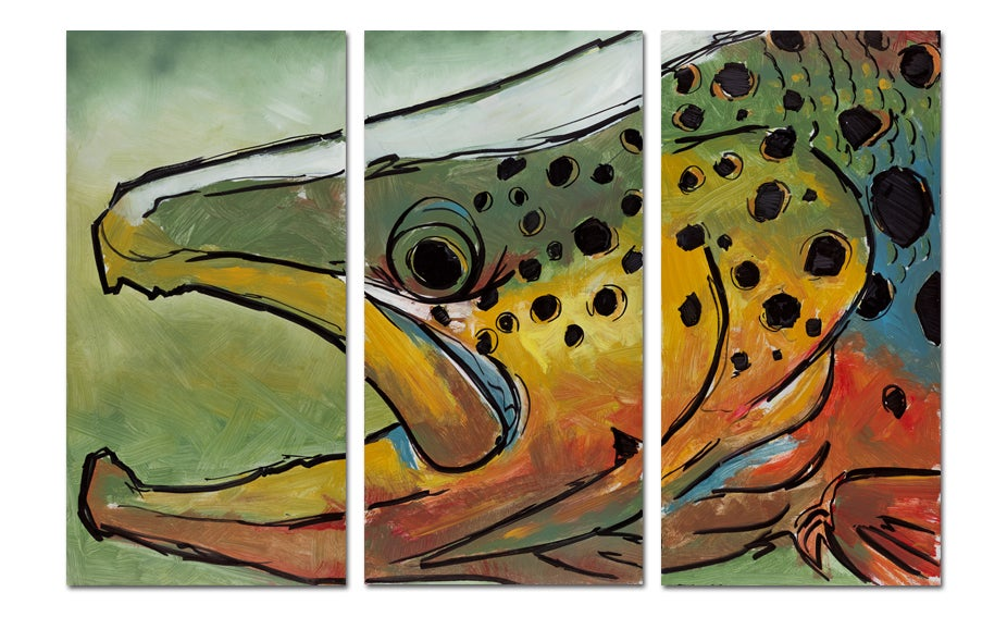 Image of Colored Brown Triptych
