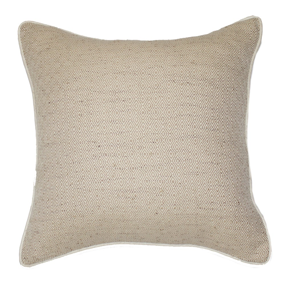 Image of Diamond Weave Natural Cushion
