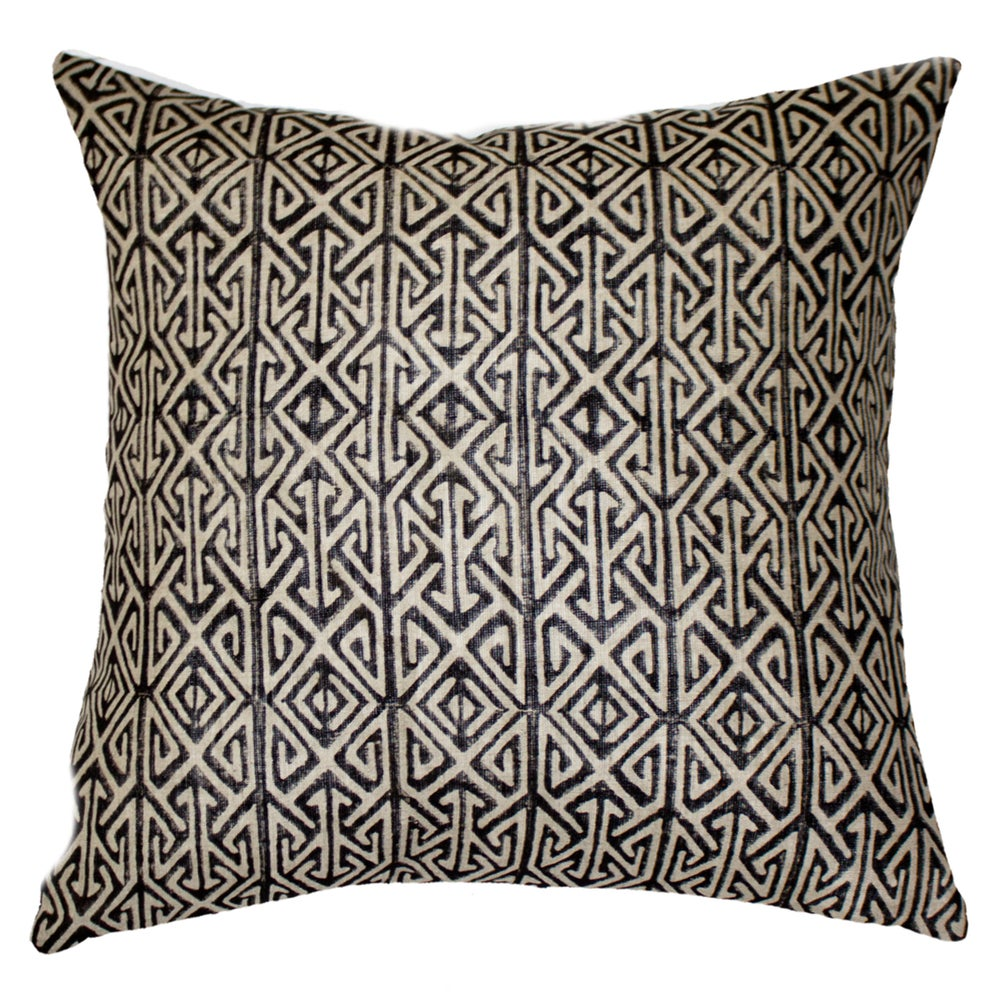 Image of Black Arrow Print Cushion