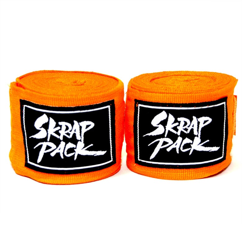 Image of Skrap Pack Hand Wraps (Orange)