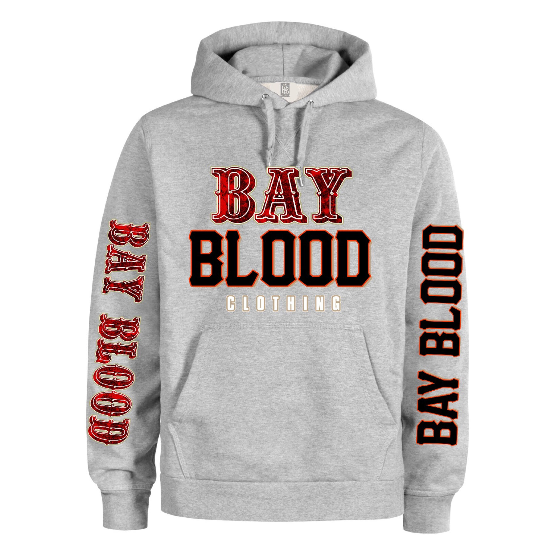 """Frisco"" Bay Blood hoodie (grey) / Bay Blood Clothing"