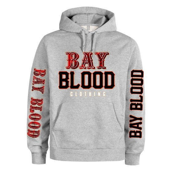 "Image of ""Frisco"" Bay Blood hoodie (grey)"