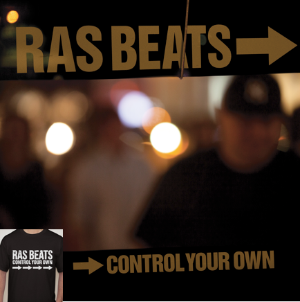 Image of RAS BEATS - CONTROL YOUR OWN LIMITED EDITION CD & T-SHIRT BUNDLE.