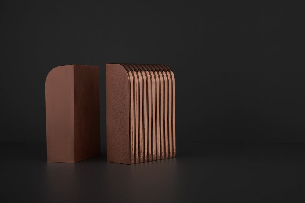Image of Corrugated Arc Bookends (Sold as Pair)
