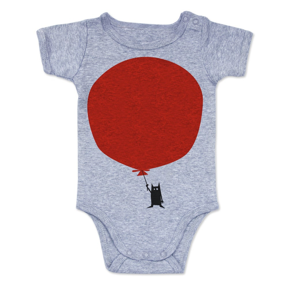 Image of Balloon Onesie - Grey Marle
