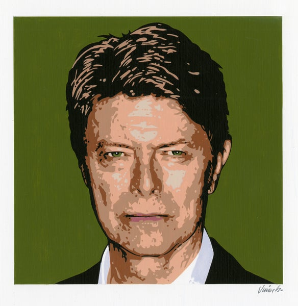 Image of DAVID BOWIE acrylic portrait No. 6