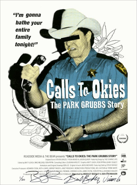 Image of CALLS TO OKIES silkscreen print