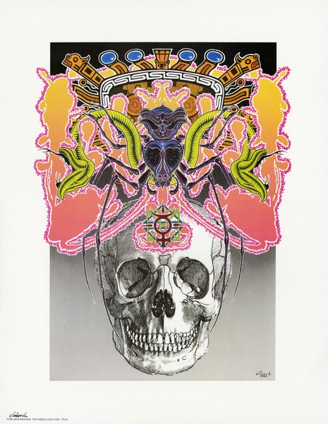 Image of PSYCHEDELIC SKULL litho print