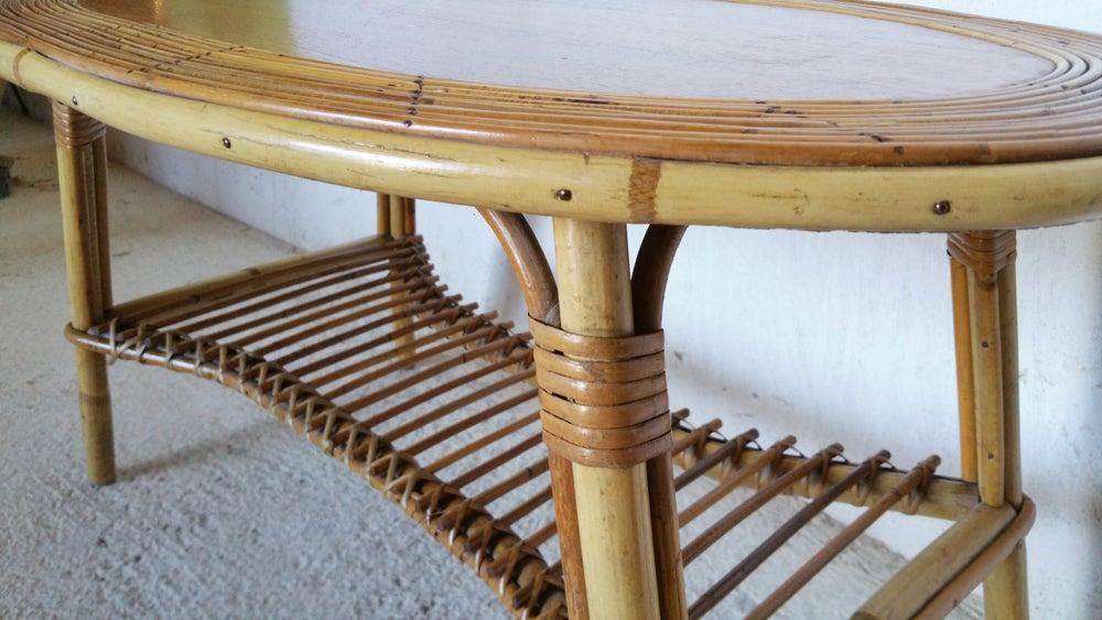 Image of Table basse en rotin